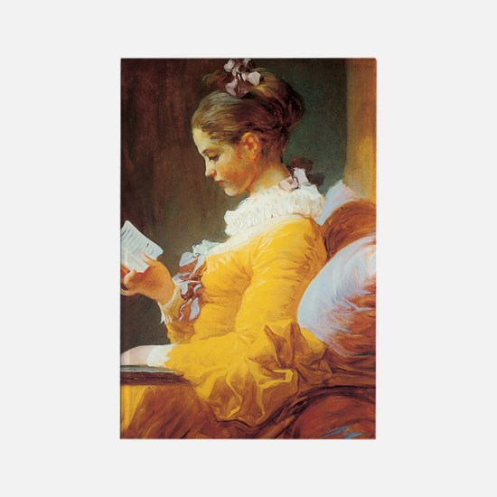 Jean-Honore Fragonard The Reader Rectangle Magnet