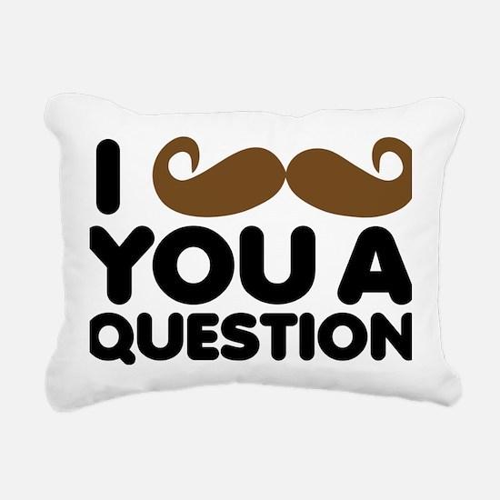 I Mustache You A Quesito Rectangular Canvas Pillow