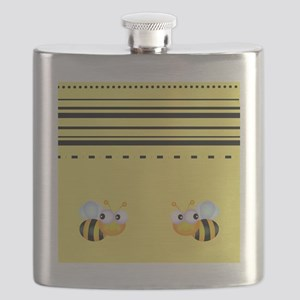 Cute Bumble Bee Graphics Flask