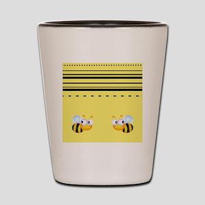Cute Bumble Bee Graphics Shot Glass