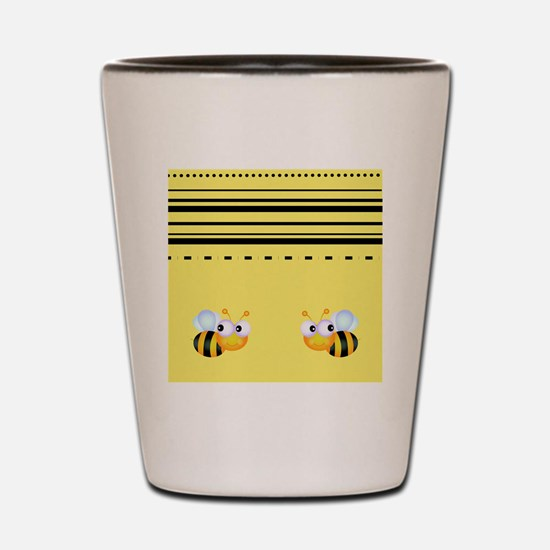 Cute Bumble Bee Graphics Shot Glass