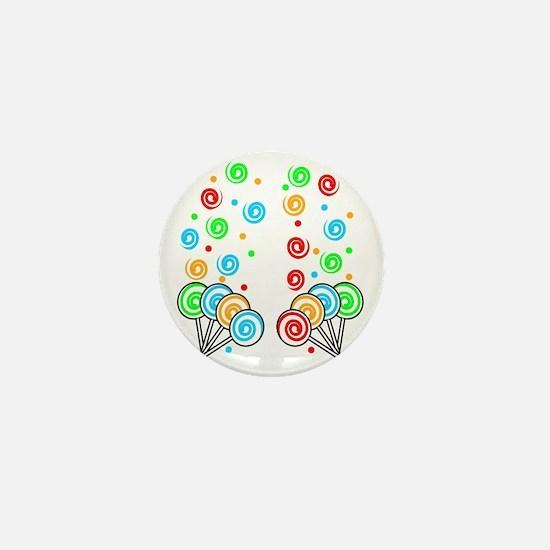 Sweet Lollipops Mini Button