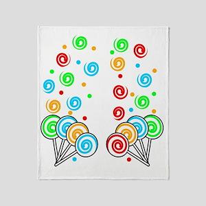 Sweet Lollipops Throw Blanket
