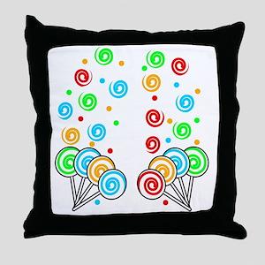 Sweet Lollipops Throw Pillow