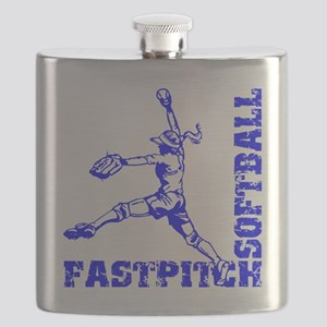 blue Corner Flask