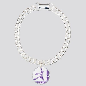 purple Corner Charm Bracelet, One Charm