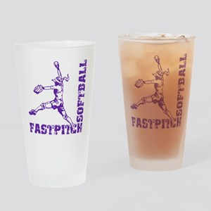 purple Corner Drinking Glass
