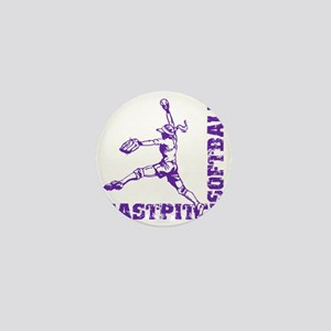 purple Corner Mini Button