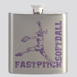 purple Corner Flask