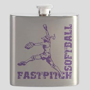 purple Corner Flask