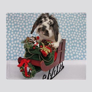 Dudley in Winter Sleigh-Full Throw Blanket
