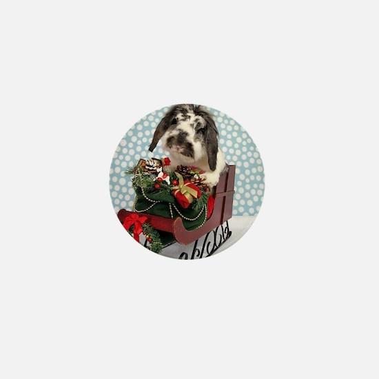 Dudley in Winter Sleigh-Full Mini Button