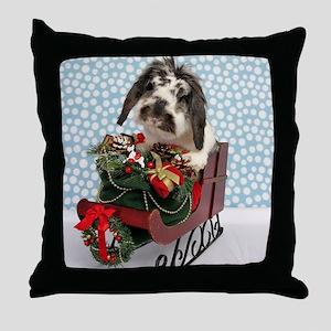 Dudley in Winter Sleigh-Full Throw Pillow