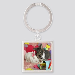 Skyler and Olivia-Valentines-Full Square Keychain