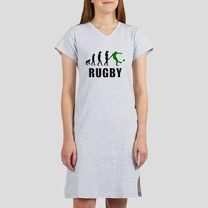 Rugby Kick Evolution (Green) Women's Nightshirt