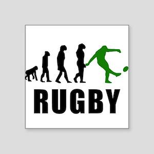 Rugby Kick Evolution (Green) Sticker
