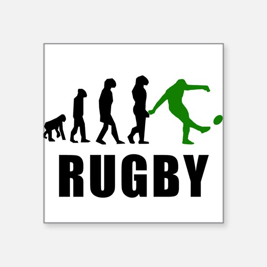 Rugby Kick Evolution (Green) Sticker