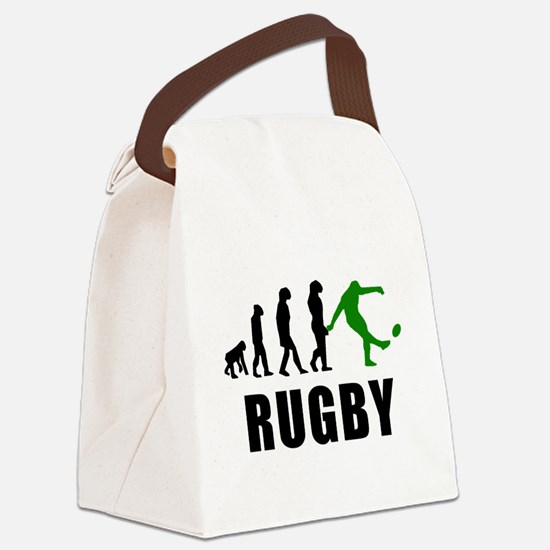 Rugby Kick Evolution (Green) Canvas Lunch Bag