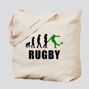 Rugby Kick Evolution (Green) Tote Bag