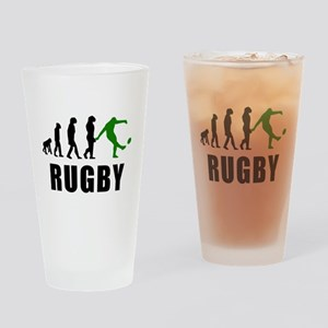 Rugby Kick Evolution (Green) Drinking Glass