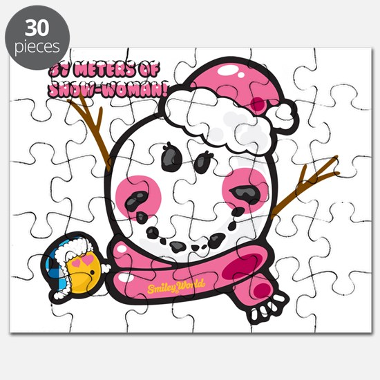 Snow woman Smiley Puzzle