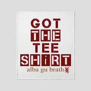 Got the red tartan alba gu brath Throw Blanket