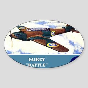 Fairey Battle Sticker (Oval)