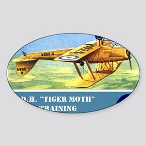 De Havilland Tiger Moth Sticker (Oval)