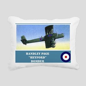 Handley Page Heyford Rectangular Canvas Pillow