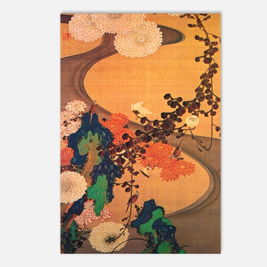 Chrysanthemums by a strea Postcards (Package of 8)