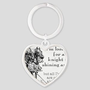 Knight In Shining Armor Funny T-Shi Heart Keychain