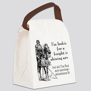 Knight In Shining Armor Funny T-S Canvas Lunch Bag