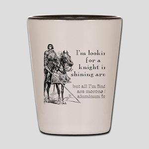 Knight In Shining Armor Funny T-Shirt Shot Glass
