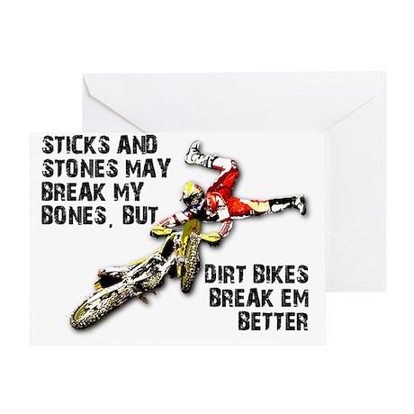 Dirt Bike Greeting Cards CafePress