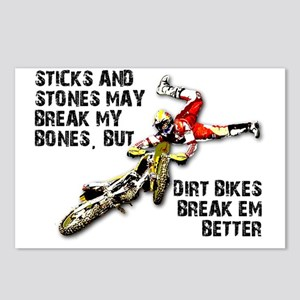Sticks And Stones Dirt Bi Postcards (Package of 8)
