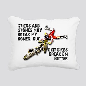 Sticks And Stones Dirt B Rectangular Canvas Pillow