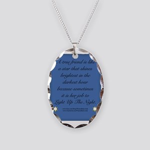 A True Friend Necklace Oval Charm