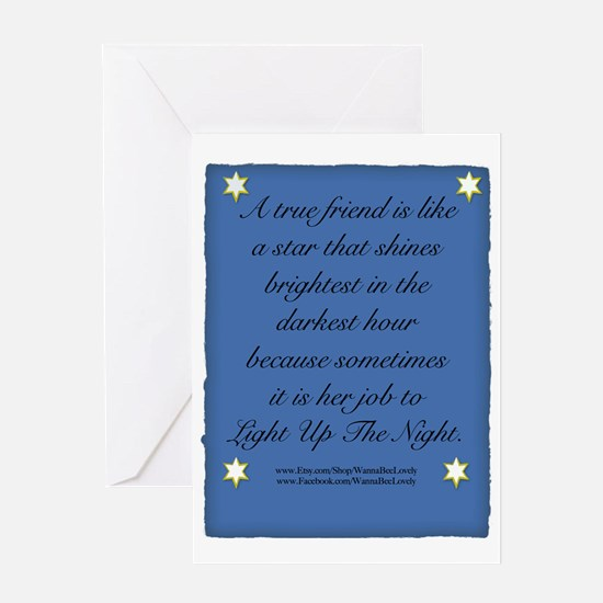 A True Friend Greeting Card