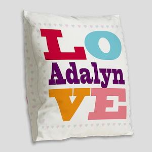 I Love Adalyn Burlap Throw Pillow