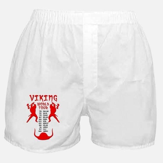Viking World Tour Funny Norse T-Shirt Boxer Shorts