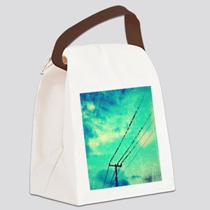 Birds on a wire Canvas Lunch Bag