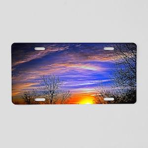 sunrise clouds Aluminum License Plate