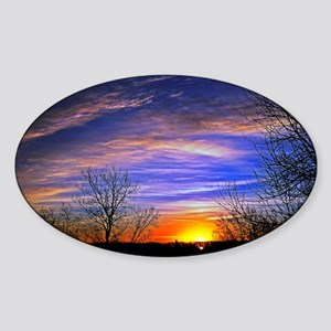 sunrise clouds Sticker (Oval)
