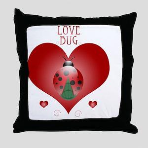 Love Bug - Lady Bug Throw Pillow