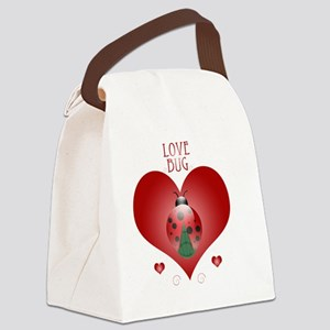 Love Bug - Lady Bug Canvas Lunch Bag