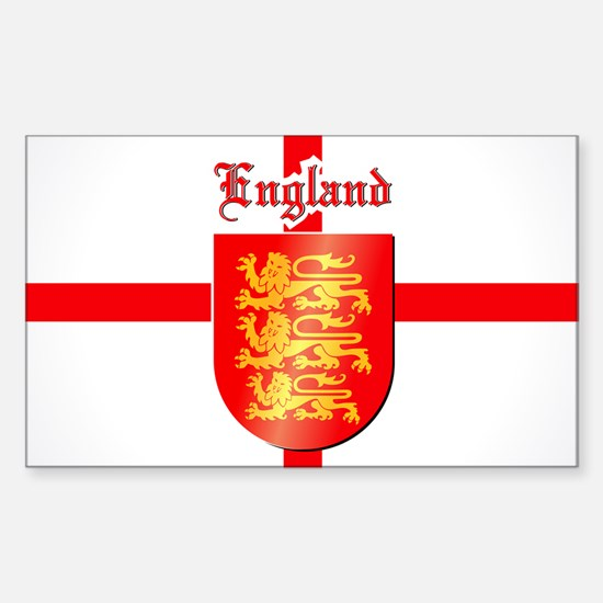 England - Coat of Arms Sticker (Rectangle)