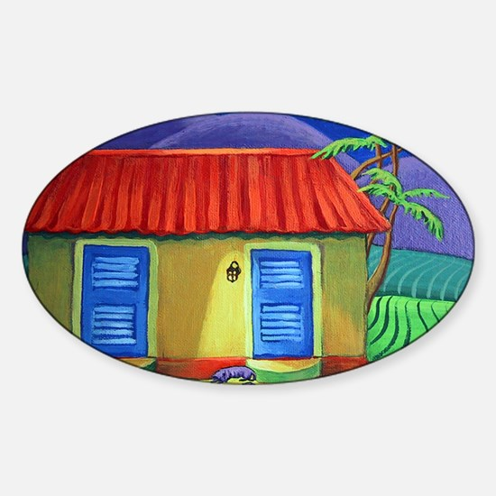 Three Dog Night - Tropical Sticker (Oval)