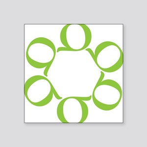 "LEAN/Six Sigma Square Sticker 3"" x 3"""