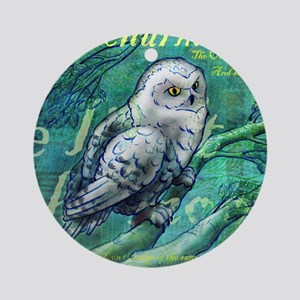 How Charmingly Sweet (Athenaeum Owl Round Ornament