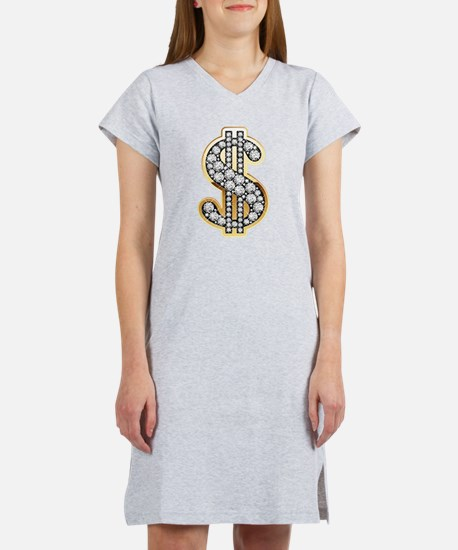 Gold Dollar Rich Women's Nightshirt